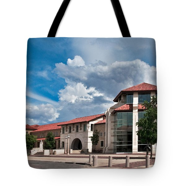 Tote Bag featuring the photograph Texas Tech Student Union by Mae Wertz