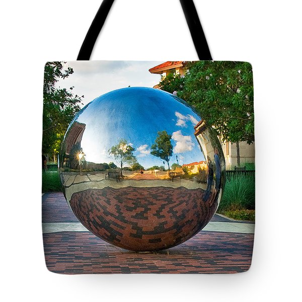 Tote Bag featuring the photograph Tech World by Mae Wertz