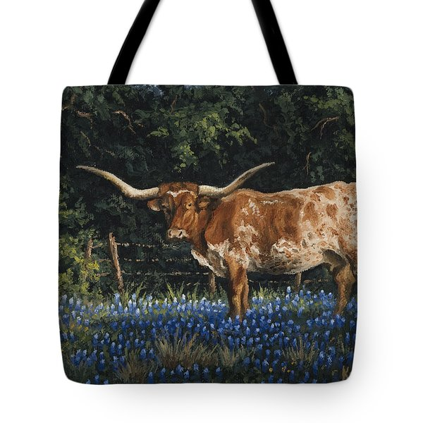 Tote Bag featuring the painting Texas Traditions by Kyle Wood