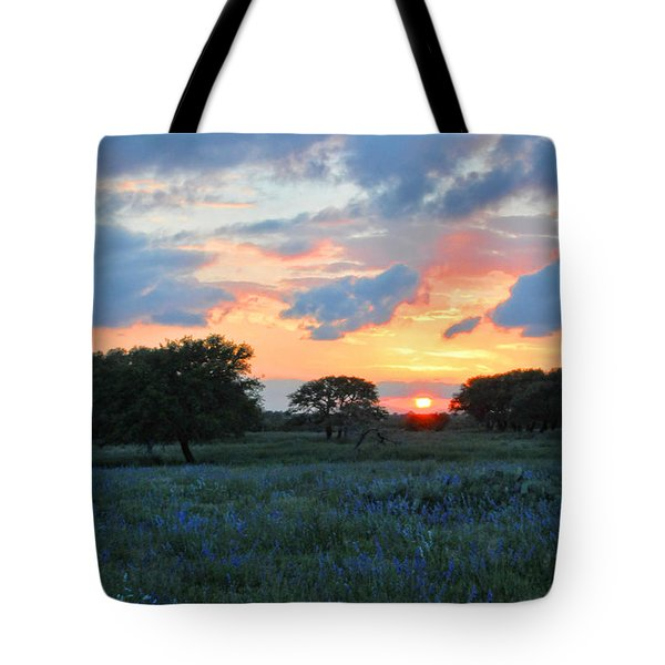 Texas Wildflower Sunset  Tote Bag