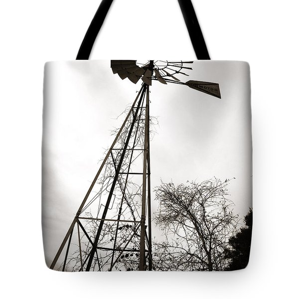 Texas Windmill Tote Bag