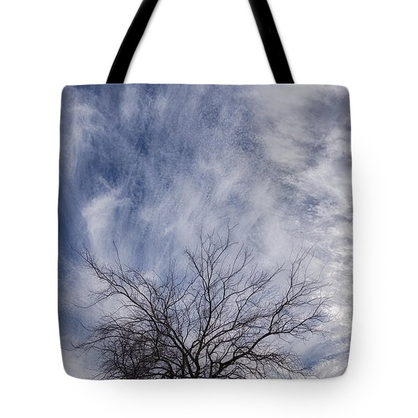 Texas Winter Clouds Tote Bag