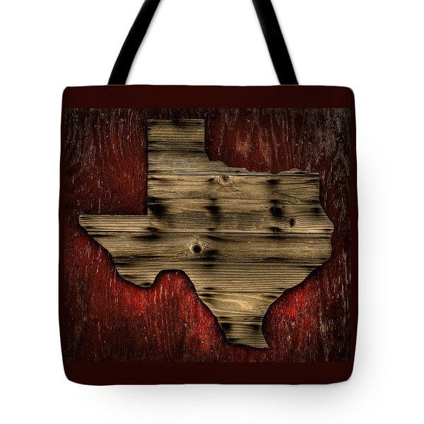 Texas Wood Tote Bag