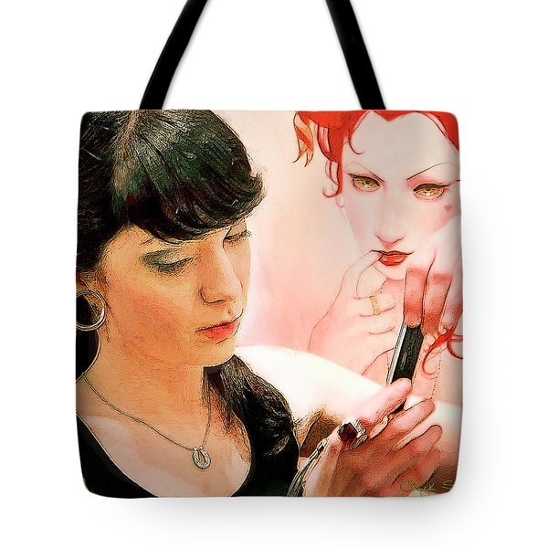 Text Message Tote Bag by Chuck Staley