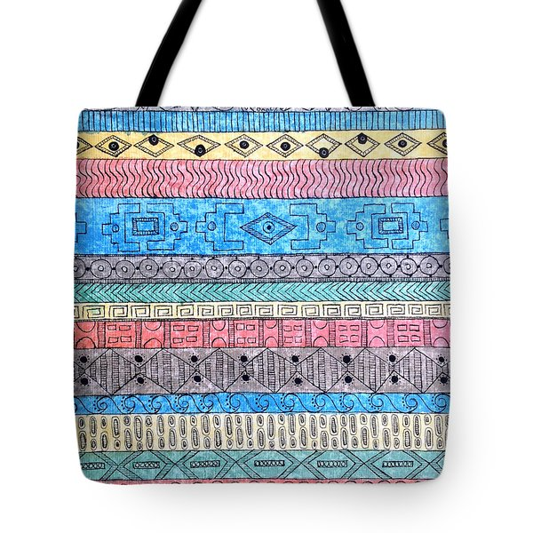 Tote Bag featuring the painting Textile #1 by Rebecca Davis