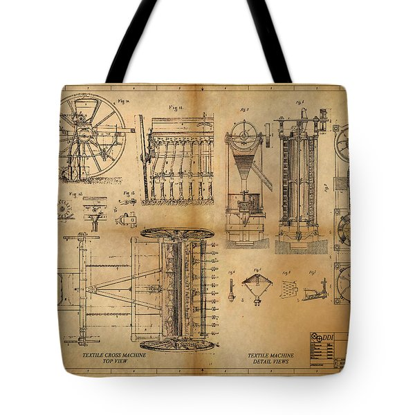 Textile Machine Tote Bag by James Christopher Hill