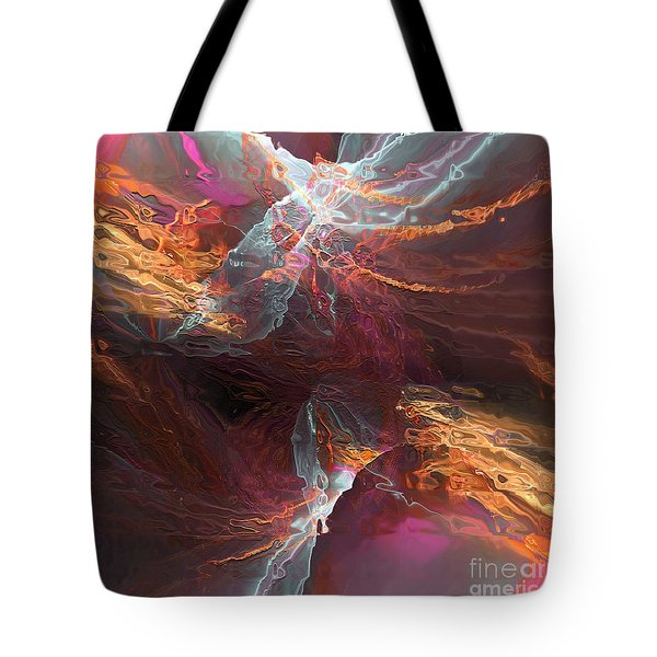 Tote Bag featuring the digital art Texture Splash by Margie Chapman