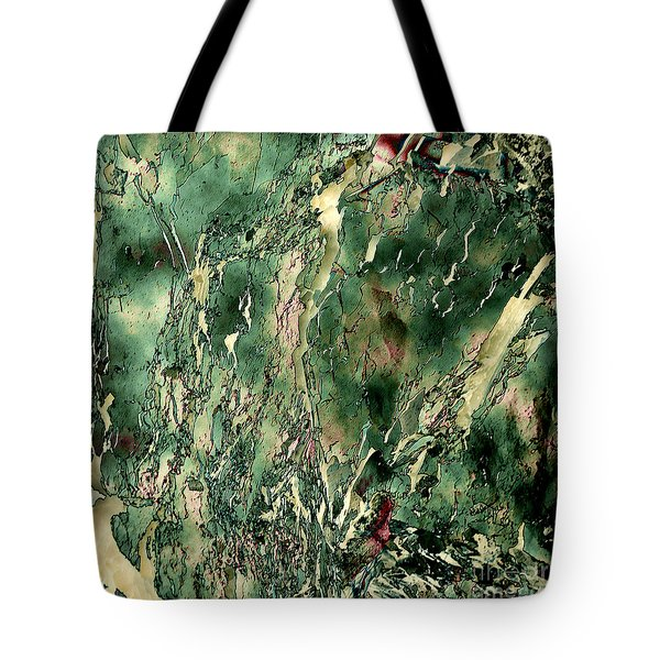 Textured Abstraction Tote Bag by Liz  Alderdice