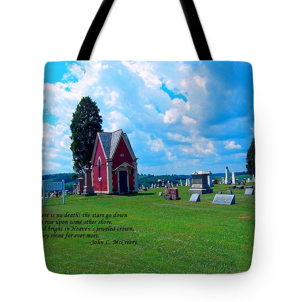 Tote Bag featuring the photograph Fryburg Cemetery by Gena Weiser