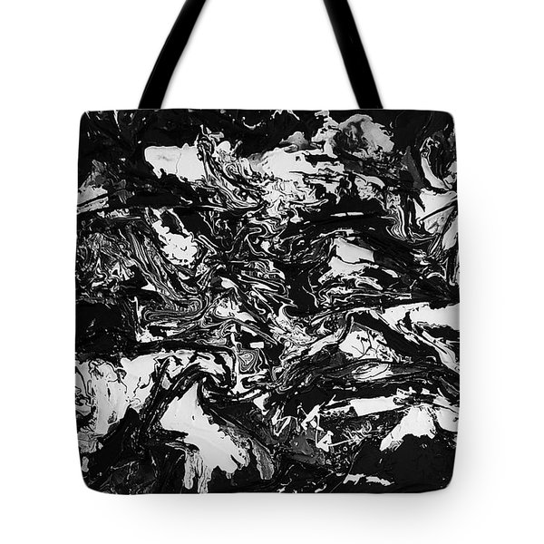 Textured Black And White Series 1 Tote Bag