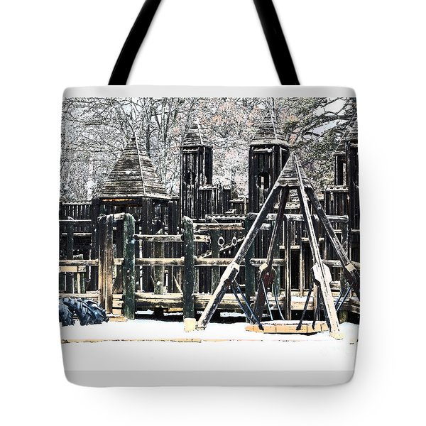 Tote Bag featuring the photograph Textured Children Will Play by Gena Weiser