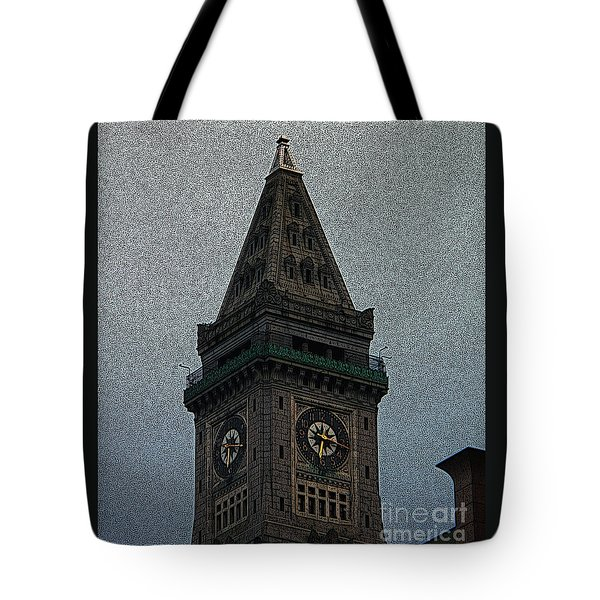 Tote Bag featuring the photograph Textured Church Steeple  by Gena Weiser