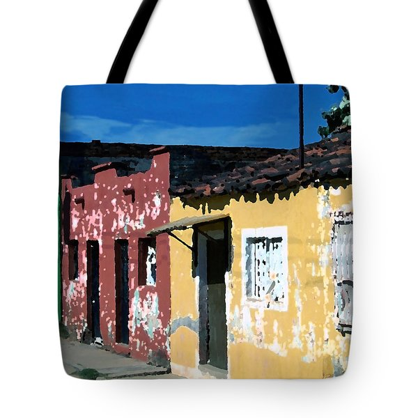 Textured - City In Mexico Tote Bag