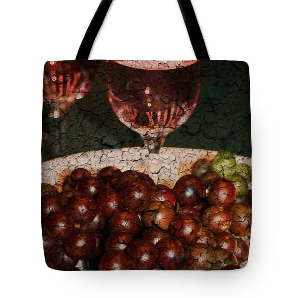 Textured Grapes Tote Bag