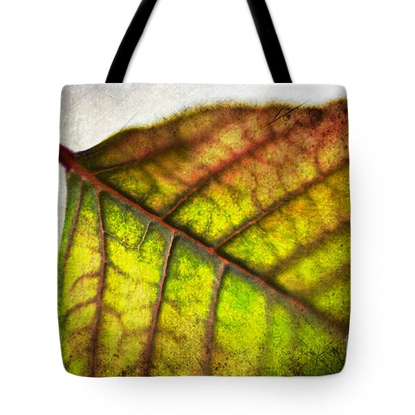 Textured Leaf Abstract Tote Bag by Scott Pellegrin