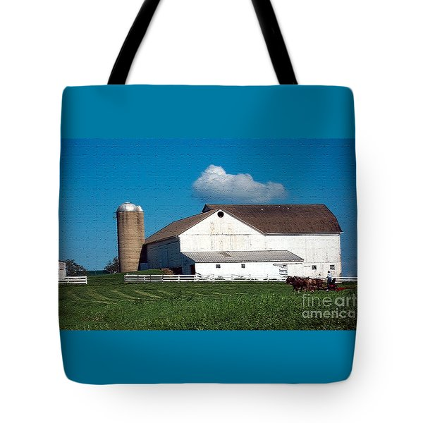 Tote Bag featuring the photograph Textured - Plowing The Field by Gena Weiser