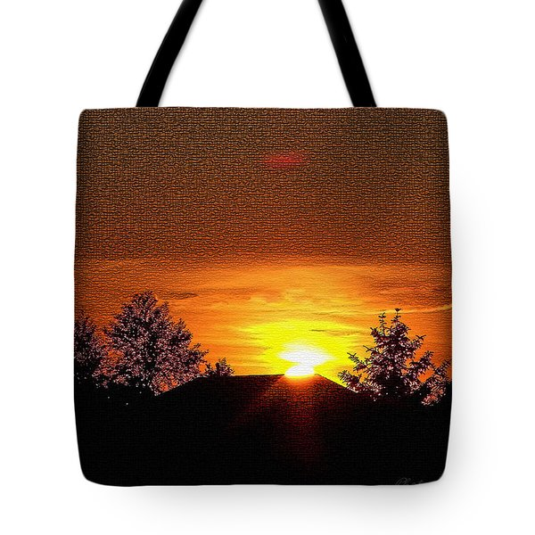 Textured Rural Sunset Tote Bag