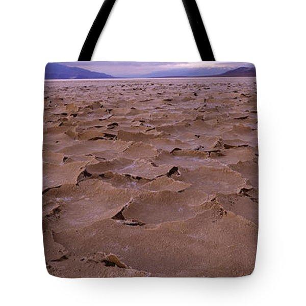 Textured Salt Flats, Death Valley Tote Bag