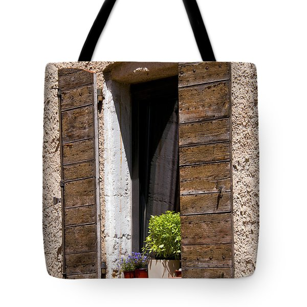 Textured Shutters Tote Bag by Bob Phillips