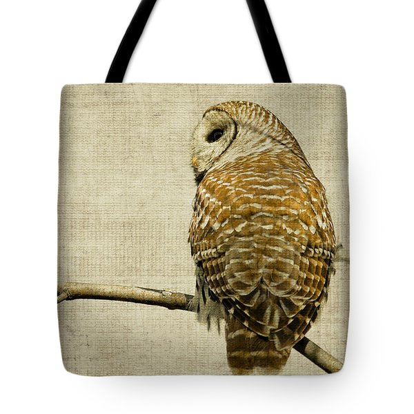 Textured Strix Varia Tote Bag by Michel Soucy