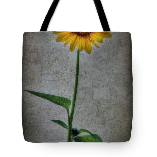 Textured Sunflower 1 Tote Bag by Lori Deiter