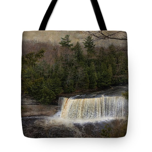 Textured Tahquamenon River Michigan Tote Bag