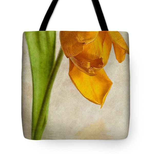 Textured Tulip Tote Bag by John Edwards