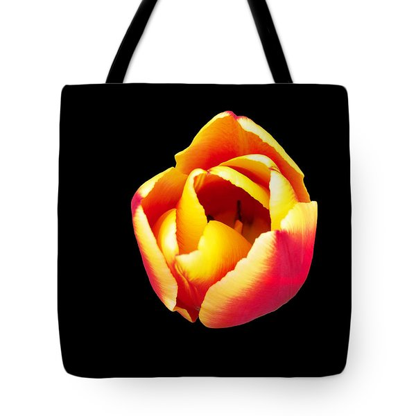 Tote Bag featuring the photograph Textured Yellow And Pink Tulip by Gena Weiser