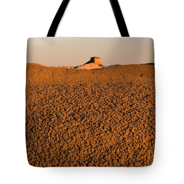 Textures In The Bisti Wilderness Tote Bag by Vivian Christopher