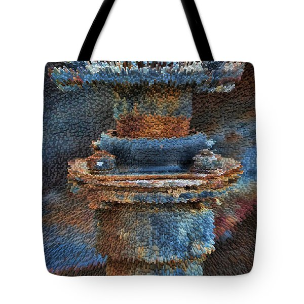 Texturized Pipe Tote Bag