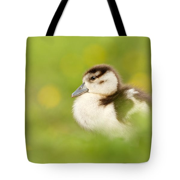 The Gosling In The Grass Tote Bag