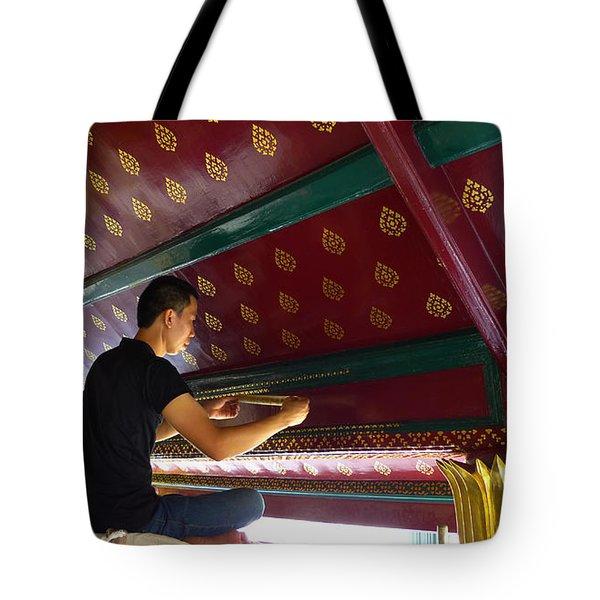 Thai Artisan At Work Tote Bag