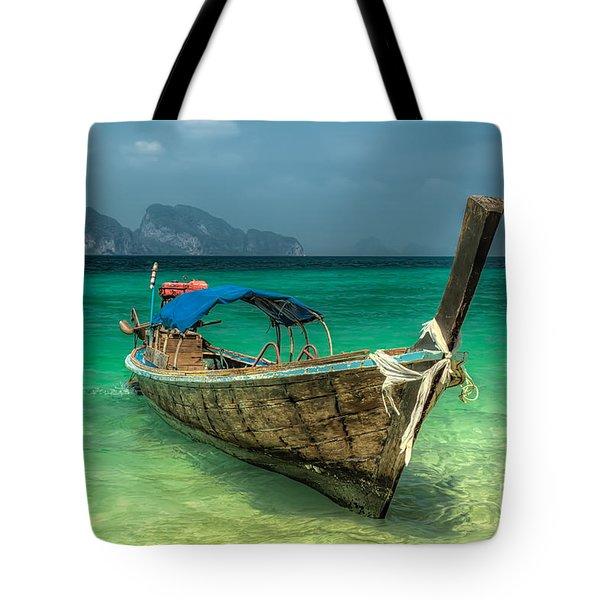 Thai Boat  Tote Bag by Adrian Evans