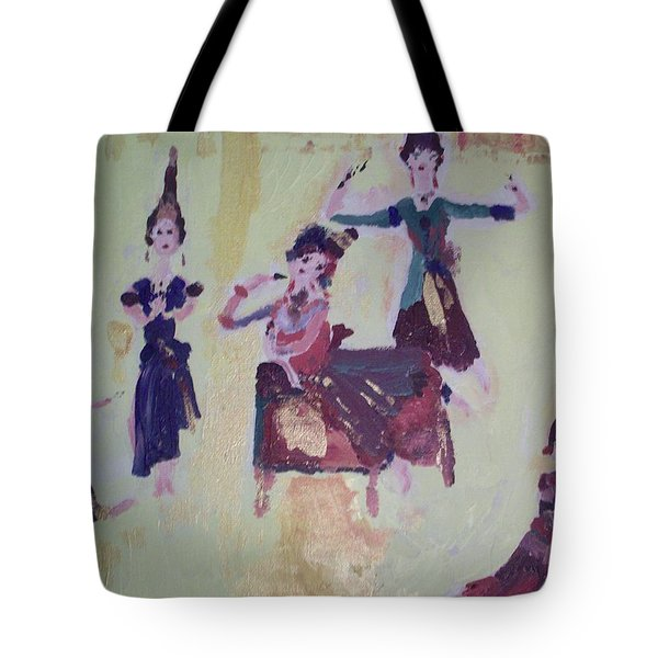 Thai Dance Tote Bag by Judith Desrosiers