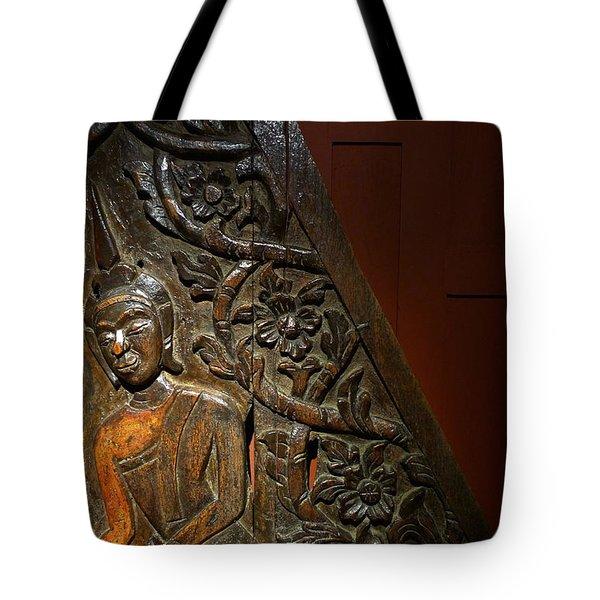 Thai Wood Panel Tote Bag