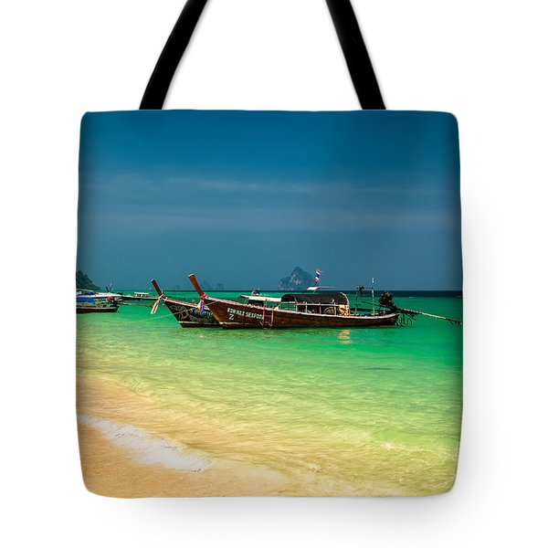 Thai Longboats Tote Bag by Adrian Evans