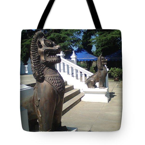 Thai Temple Steps Tote Bag