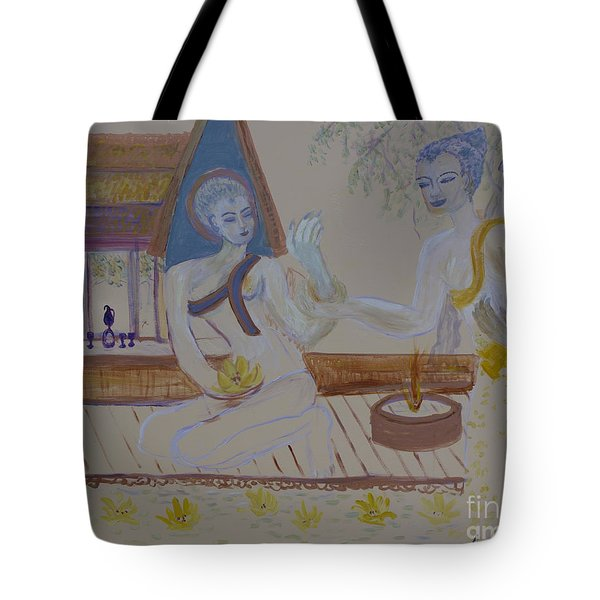 Tote Bag featuring the painting Thailand by Avonelle Kelsey