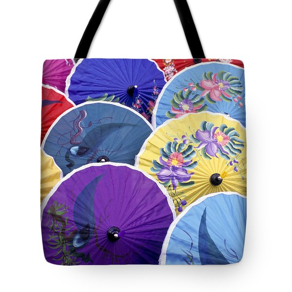 Thailand. Chiang Mai Region. Umbrellas Tote Bag by Anonymous