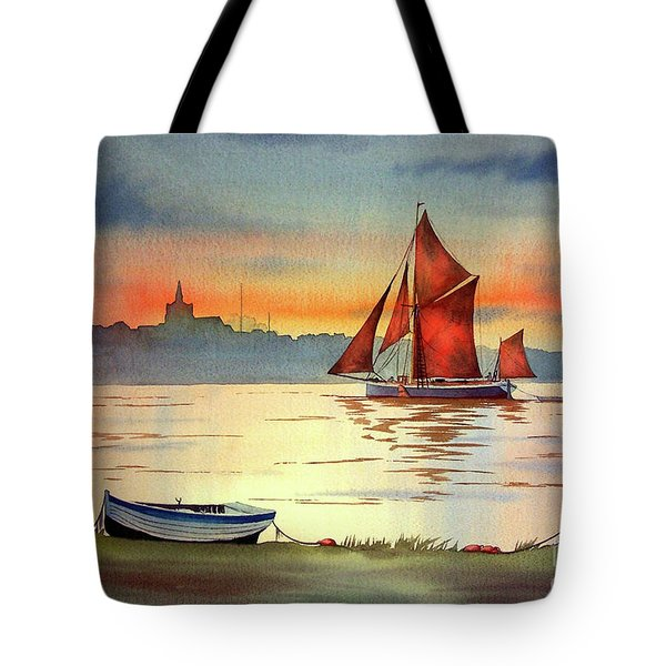 Thames Barge At Maldon Essex Tote Bag