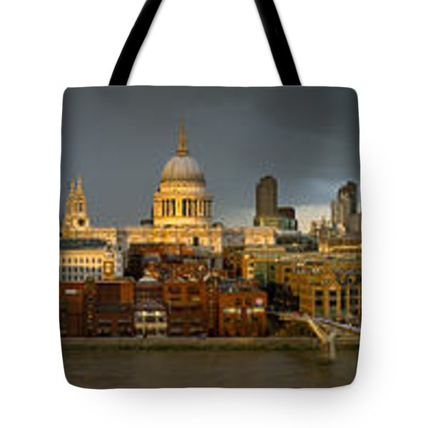 Thames With St Paul's Panorama Tote Bag