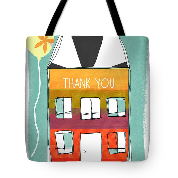 Thank You Card Tote Bag by Linda Woods