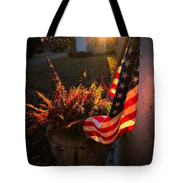 Tote Bag featuring the photograph Thank You For Serving by Robert McCubbin