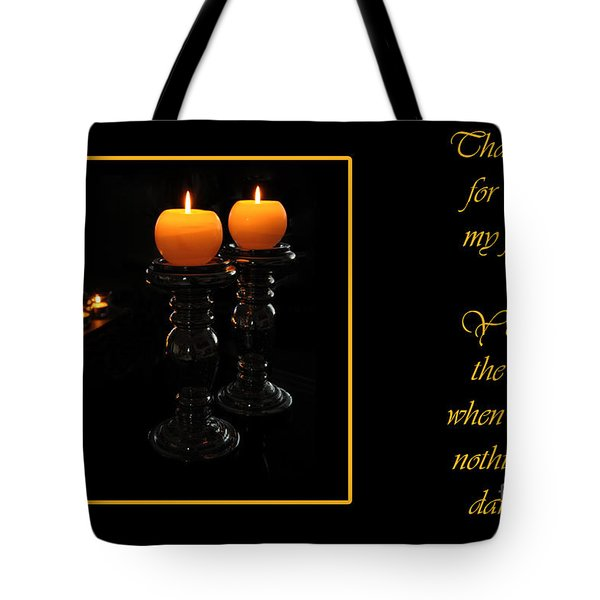 Tote Bag featuring the photograph Thank You  by Randi Grace Nilsberg
