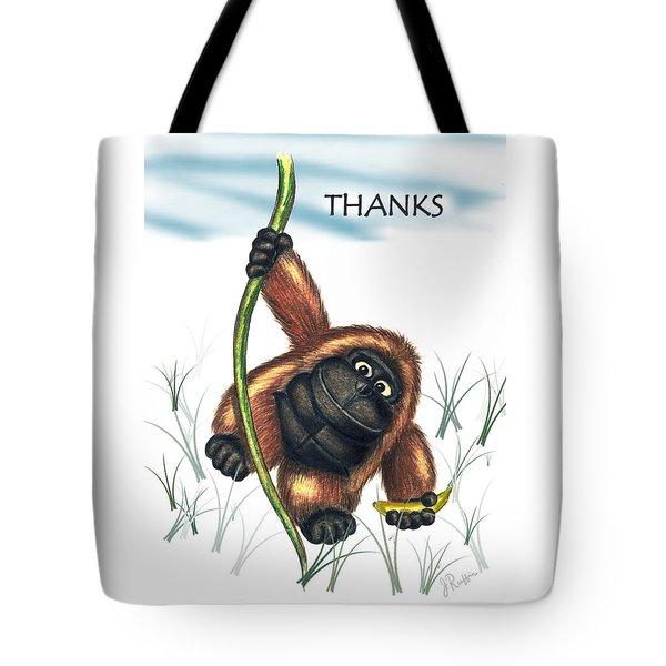 Thanks Tote Bag by Jerry Ruffin