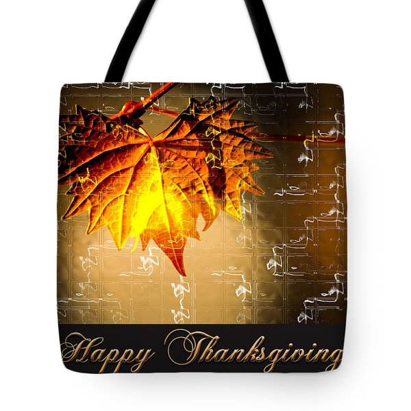 Thanksgiving Card Tote Bag