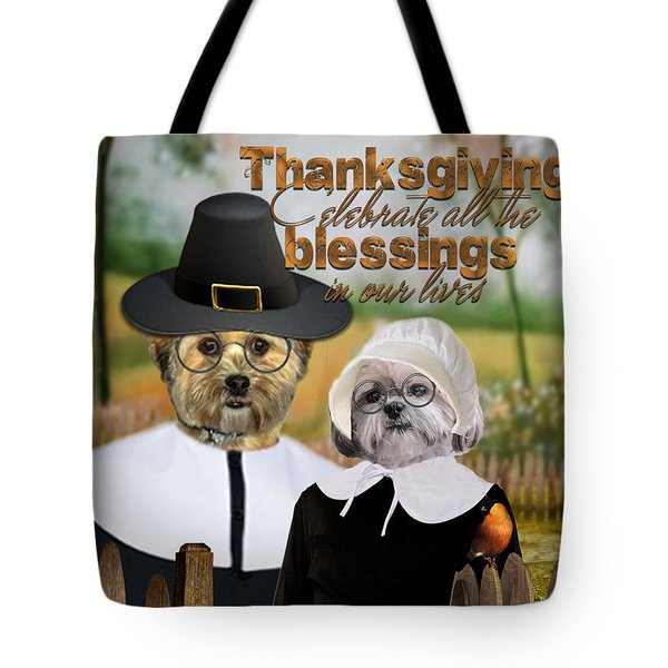 Thanksgiving From The Dogs-2 Tote Bag