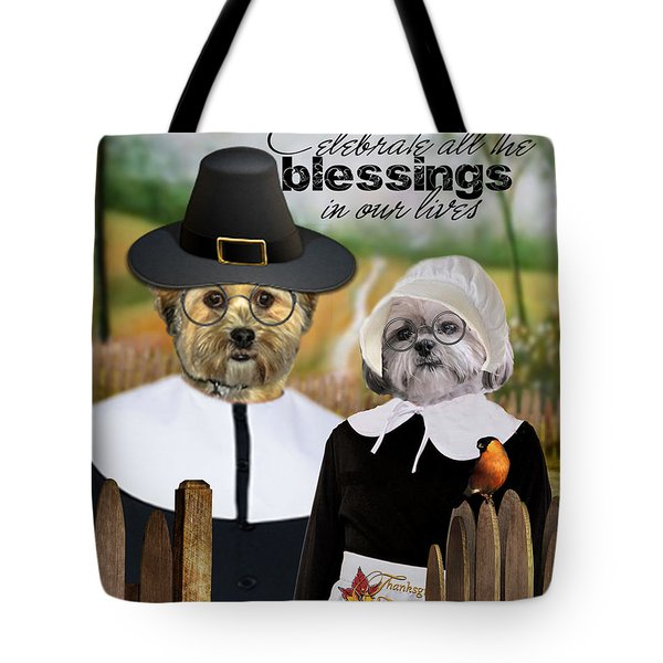 Thanksgiving From The Dogs Tote Bag