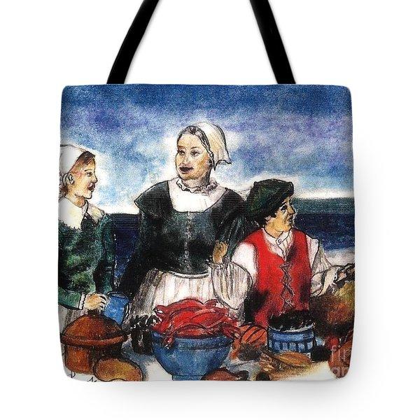 Thanksgiving Supper Tote Bag by Francine Heykoop
