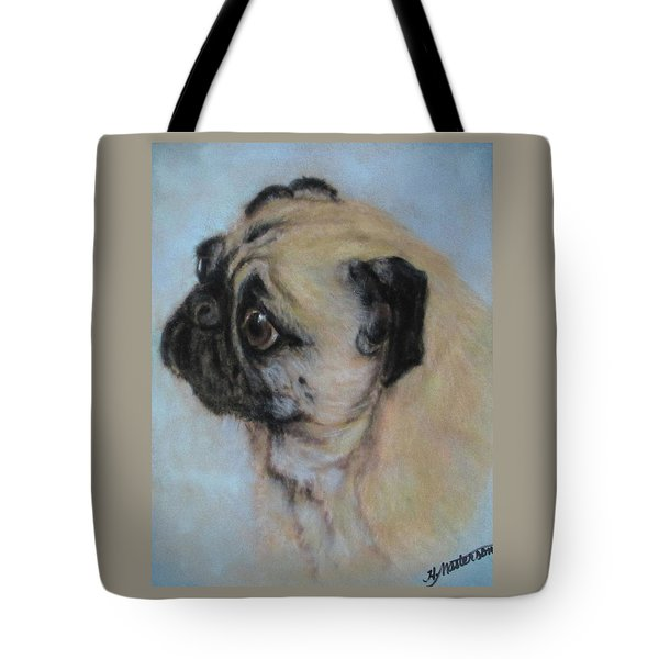 Pug's Worried Look Tote Bag